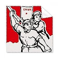 Mao Zedong ブラシペーパーソルジャー 引用句 メガネ 布 クリーニングクロス 電話画面クリーナー 5個 ギフト