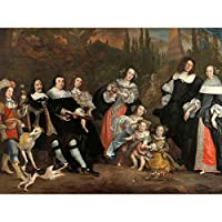 Jacobsz Michiel De Ruyter And His Family Painting Large XL Wall Art Canvas Print 家族ペインティング壁
