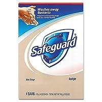 Safeguard Deodorant Soap, Antibacterial, Beige 4-Count 90 ml (Pack of 12) (並行輸入品)
