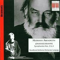 Symphonies Nos. 3 & 4 by J. Brahms