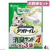 デオトイレ 消臭サンド お徳用4L お買い得3袋入り 猫砂 シリカゲル