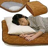 メーカー直販 あったか保温 毛布調 敷きパッド(保温力抜群アルミシート入り) シングル 100×205cm ブラウン