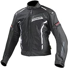 コミネ(Komine) バイクジャケット カーボンプロテクトメッシュジャケット ブラック L 07-103 JK-103