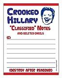 Crookedヒラリーメモ帳面白い政治Gift Idea 4.25X 5.5、50シートMemo Pad