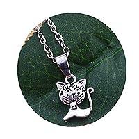 小さい猫のネックレスは、小さな銀の猫のネックレス 小さな猫好きの猫ペンダントネックレス 動物愛好家の宝石