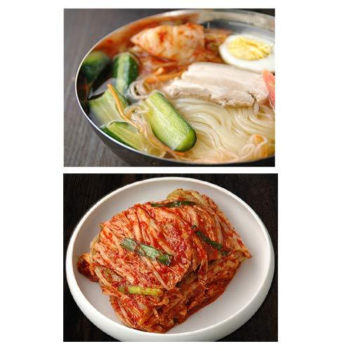 韓国冷麺8食と白菜キムチ500gセット プロが選ぶ本格業務用冷麺(ギフト・中元 歳暮)【冷蔵限定】【送料無料】