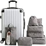 7 Set Bag Packing Cubes Travel TheNextTrip Luggage Organiser Compression Pouches for Travel, Stay Organised and Save Space, P