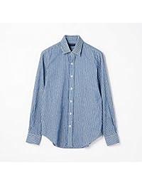 [トゥモローランド]TOMORROWLAND 17-18A/W コットンモール セミワイドカラーシャツ 66 BLUE