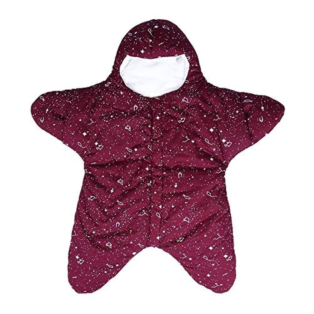 金属探偵ためにベビー寝袋 0-8ヶ月のソフトで快適なインテリアファブリックを着て足厚い冬の寝袋の赤ちゃんは、屋内での使用に非常に適しています 新生児睡眠カプセル (色 : 赤, サイズ : 80x73cm)