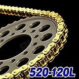 Big-One(ビッグワン) バイク ゴールド チェーン 交換 520-120L クリップジョイント 強化Type 11512