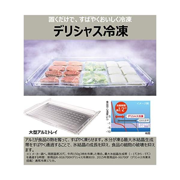 日立 冷蔵庫 430L 6ドア クリスタルホワ...の紹介画像7