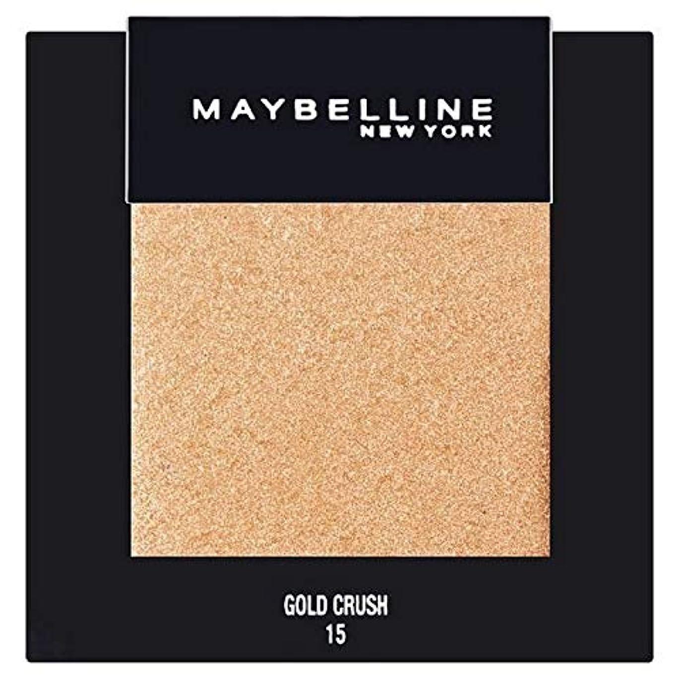 再編成する不完全消える[Maybelline ] メイベリンカラーショーシングルアイシャドウ15金クラッシュ - Maybelline Color Show Single Eyeshadow 15 Gold Crush [並行輸入品]