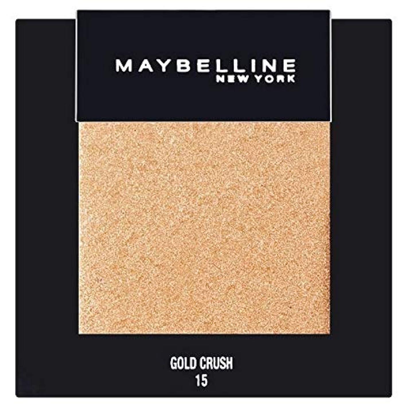公描くスペイン[Maybelline ] メイベリンカラーショーシングルアイシャドウ15金クラッシュ - Maybelline Color Show Single Eyeshadow 15 Gold Crush [並行輸入品]