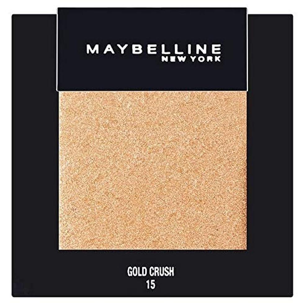 リンス担保限られた[Maybelline ] メイベリンカラーショーシングルアイシャドウ15金クラッシュ - Maybelline Color Show Single Eyeshadow 15 Gold Crush [並行輸入品]