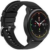 【日本正規代理店品】Xiaomi Mi Watch スマートウォッチ 1.39インチディスプレイ 血中酸素レベル測定 16日間バッテリー持続 117種類スポーツモード 32g軽量設計 GPS運動記録 LINE・メッセージ・座りすぎ・着信通知 (ブラッ