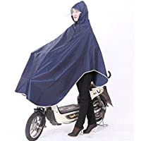 SyuuYou 自転車レインコート ポンチョ レイン ポンチョ型 大きいツバ 厚手生地 雨具 男女兼用 フリーサイズ