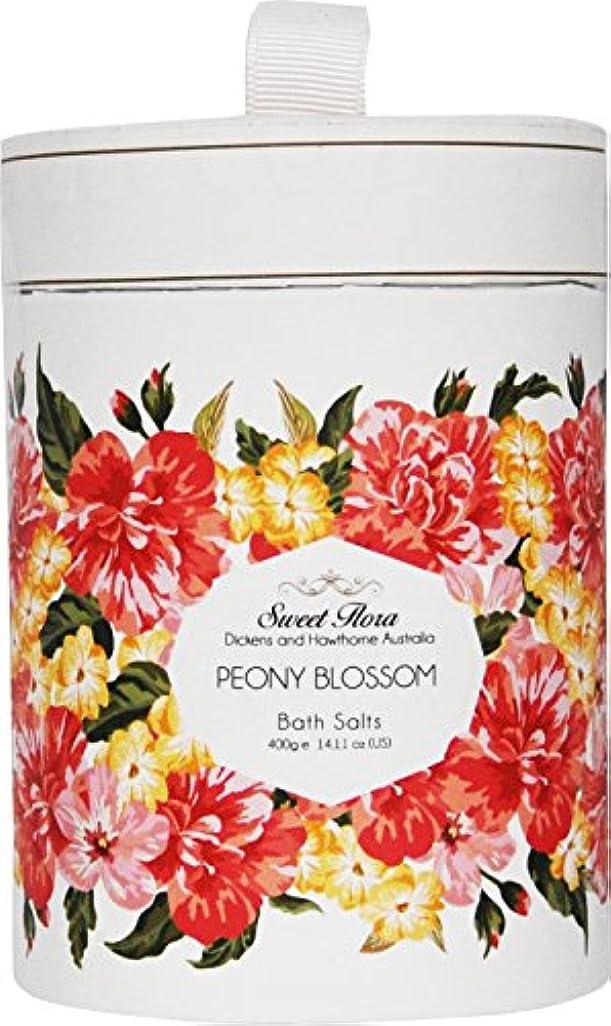 軍使役音楽を聴くSweet Flora スウィートフローラ Bath Salt バスソルト Peony Blossom ピオニーブロッサム