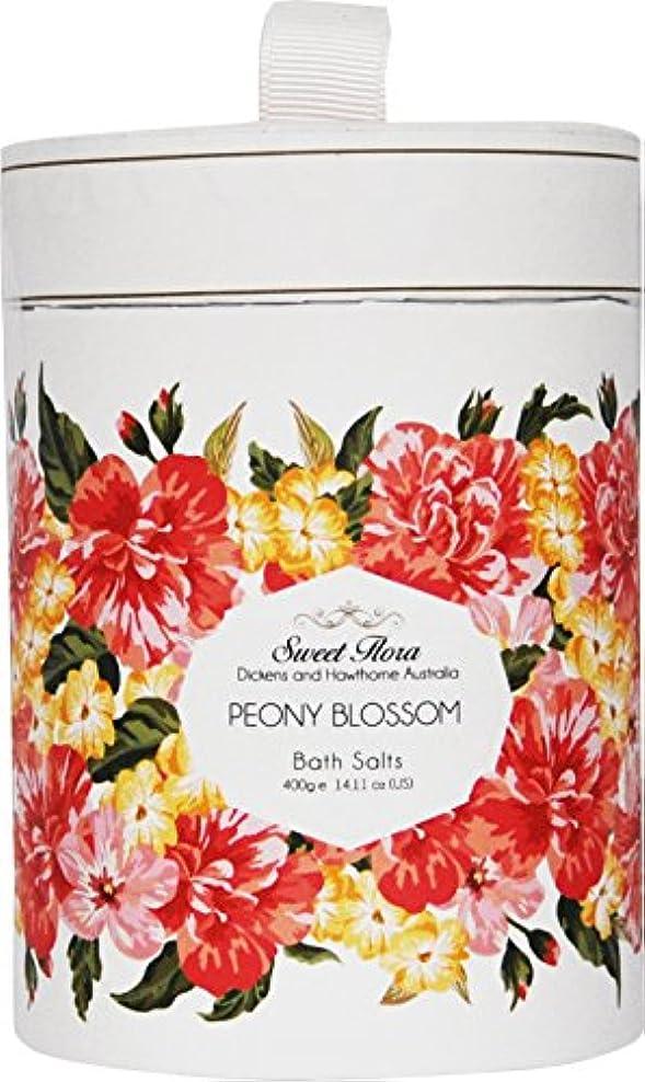 復活させる楕円形後方Sweet Flora スウィートフローラ Bath Salt バスソルト Peony Blossom ピオニーブロッサム