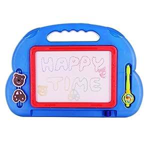 Wishtime 4色カラフル マグネット お絵描きボード 35.5*24cm 知育 おもちゃ スタンプ マグネットペン(色指定不可)