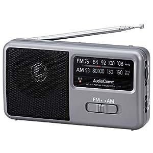 OHM AM/FM コンパクトポータブルラジオ [RAD-F1771M]