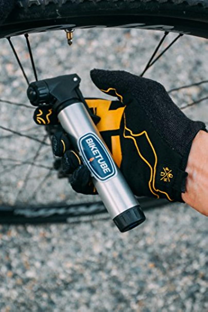 シール光景残り物BIKETUBE エアハンドラー ミニバイクポンプ | 2段階ポンプ | 自転車アクセサリー | アルミバレル | 仏式および米式バルブに適合 | 高ボリューム、高圧。