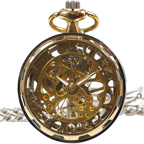 [モノジー] MONOZY 手巻き 機械式 懐中時計