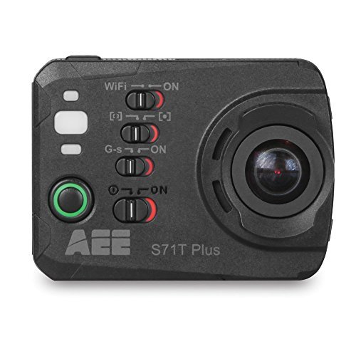 AEE Technology S71T Plus 4K 1080P 16MP HD LCD Touchscreen 120FPS Slow-Mo Action Camera 100M IP68 Waterproof Case (Black) [並行輸入品]