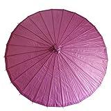 和傘 日傘 無地 直径84cm 紫