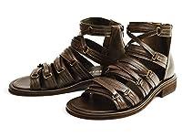 (ゼロスピン)zerospin グラディエーター サンダル サマー シューズ ブーツ バックジッパー カジュアル 靴 男性用 メンズ LL(27.5cm~28cm) D/Brown ダーク ブラウン