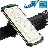 自転車ホルダー VUP スマホホルダー 超簡単に脱着 360度回転 4-6インチのスマホに対応 iPhoneX iPhone8、7、6Plus iPhone8、7、6 Andro..
