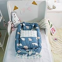 Ustide 可愛いベビーベッド 赤ちゃんベッド ベビー布団セット 折りたたみ 便利 通気性 出産祝い プレゼント