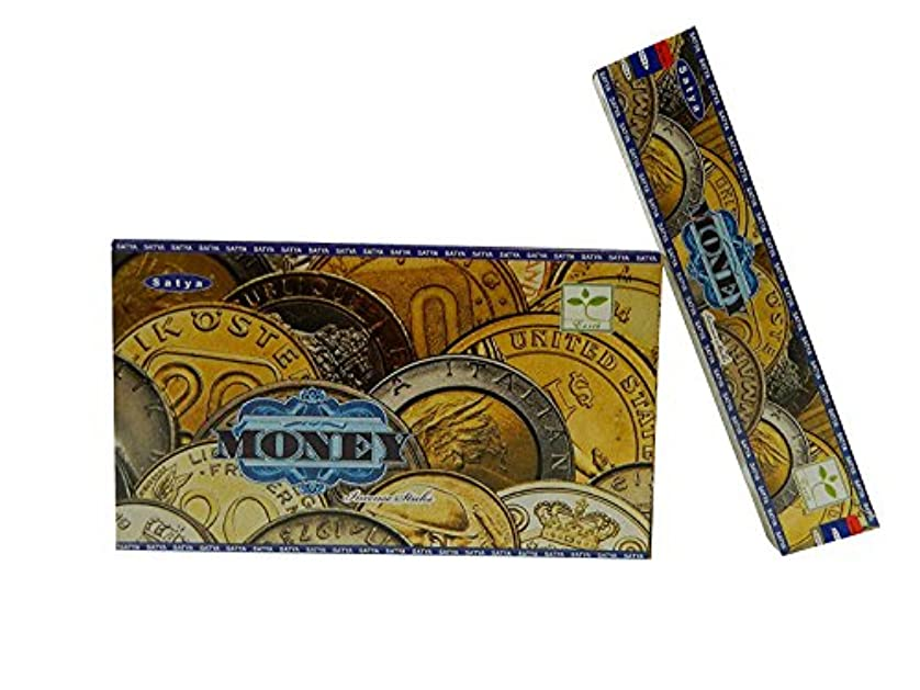 経済補体書道Satya Nag Champa Money Incense sticks-12packs X 15グラム( 1 )