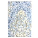 メリーナイト 日本製 綿100% 掛布団カバー 「セレナーデ」 シングルロング サックス 223564-76
