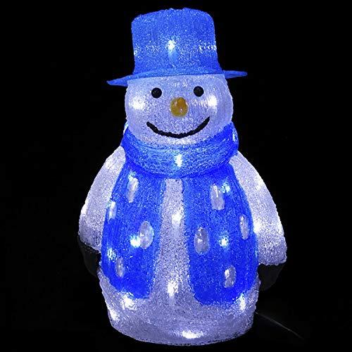 LEDイルミネーション クリスタルモチーフ スノーマン H40cm / クリスマス 装飾 飾り  24085