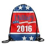 Drawstringバックパックヒラリー・クリントン大統領2016ナイロンホーム旅行スポーツストレージ One Size