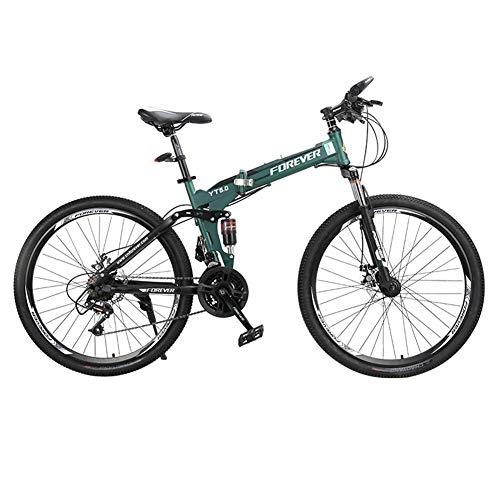 HLMIN 折りたたみ自転車24の速度の完全な懸濁液の自転車...