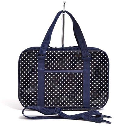 格上スタイルのキッズ書道・習字バッグ(バッグのみ) 水玉・紺 日本製 N2210100