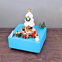 RaiFu オルゴール ミュージカルボックス 木製 クリスマスツリー 屋内装飾 オーナメント フェスティバル 誕生日 ギフト