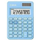 キヤノン カラフル電卓 ミニミニ卓上 10桁 W税機能搭載 アクアブルー LS-100WT-AB 【まとめ買い3個セット】