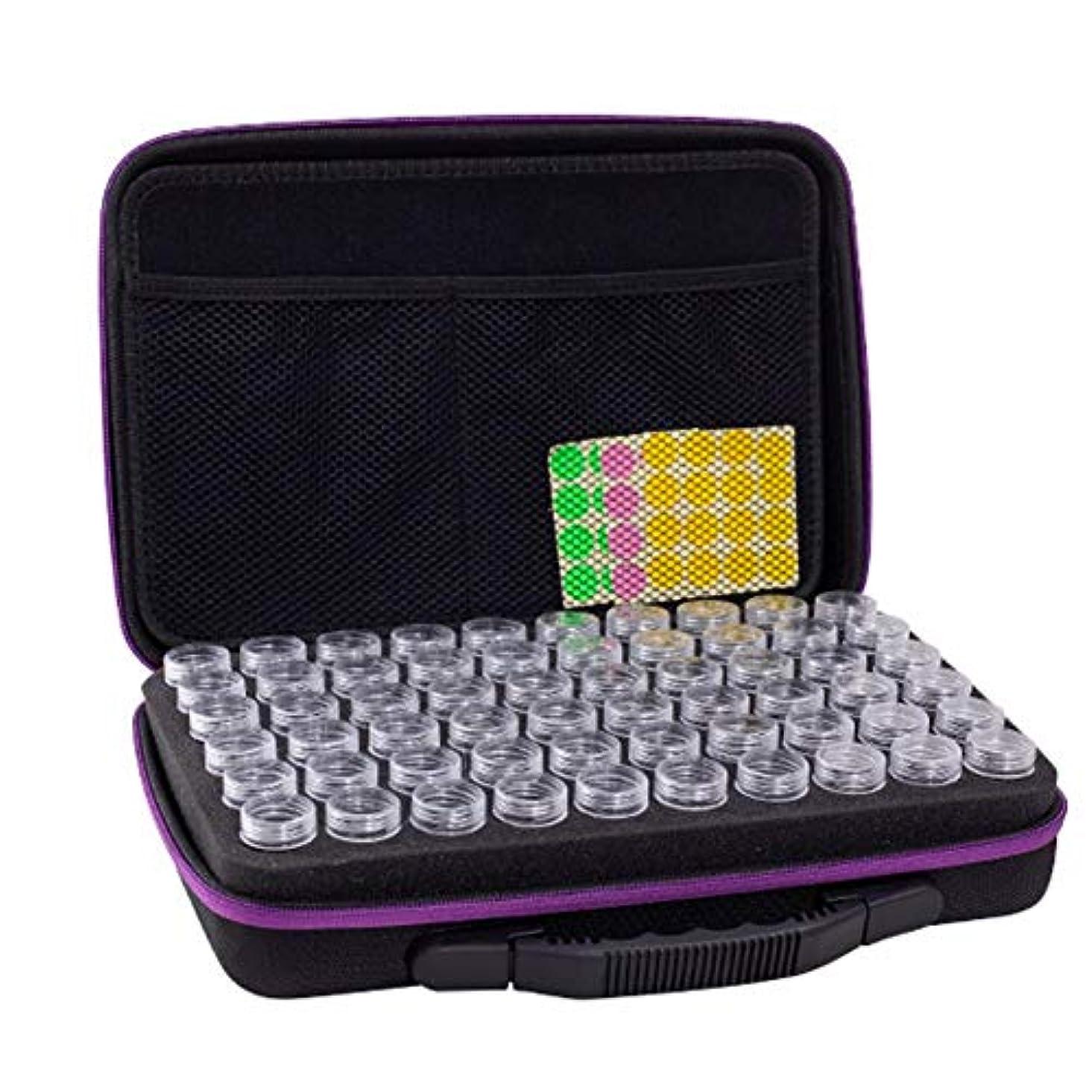 ウイルス常習的ケープアロマポーチ エッセンシャルオイル ケース 携帯用 アロマケース メイクポーチ 精油ケース 大容量 アロマセラピストポーチ 120本用 サイズ:32 22.5 8.5 CM