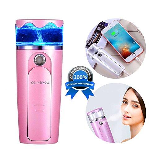 顔用加湿器 QUIMOOZ 補水美容器 小型 ナノミスト美顔器 噴霧式 ミニ携帯...