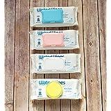 Eco-Friendly Wipe Cap, Reusable, Single Sheet Dispenser, Easy Opening, Keeps Baby & Beauty Wipes Fresh & Moist (White)