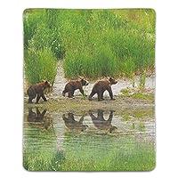 マウスパッド 滑り止め 天然ゴム 長方形 クマの家族