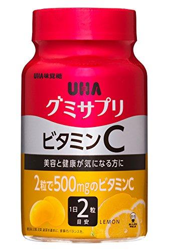 UHAグミサプリ ビタミンC レモン味 ボトルタイプ 60粒...