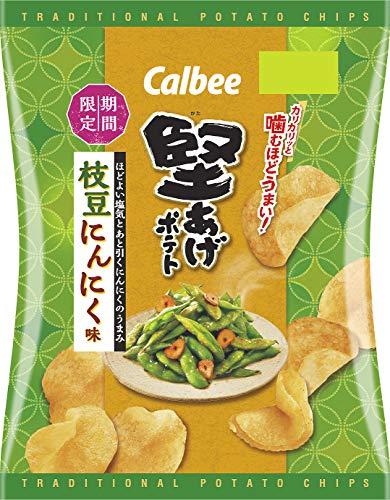 堅あげポテト 枝豆にんにく味 12袋