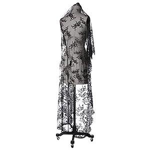 ラッセルレース 花柄 レース生地 透け感 エレガント ヴィンテージレース 結婚式 裁縫 刺繍 装飾 幅110CMx 1.5Mカット