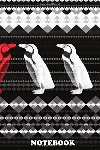 """[画像:Notebook: The Red Penguin , Journal for Writing, College Ruled Size 6"""" x 9"""", 110 Pages]"""