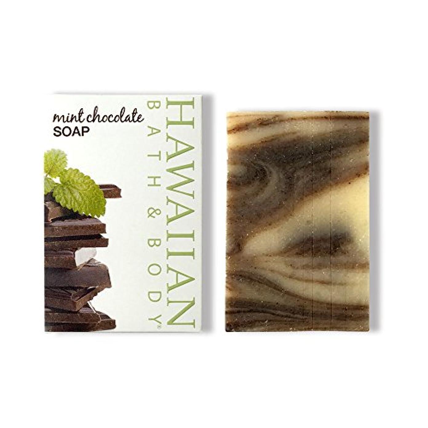 で出来ている欺く写真を撮るハワイアンバス&ボディ ハワイアン?ミントチョコレートソープ ( Hawaii Mint Chocolate Soap )