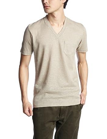 Linen V-neck T-Shirt 1117-299-1697: Beige
