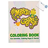 Fun Express Mardi Gras Coloring Book (with付箋) 30 Dozen (360 pieces) B4963753151114W